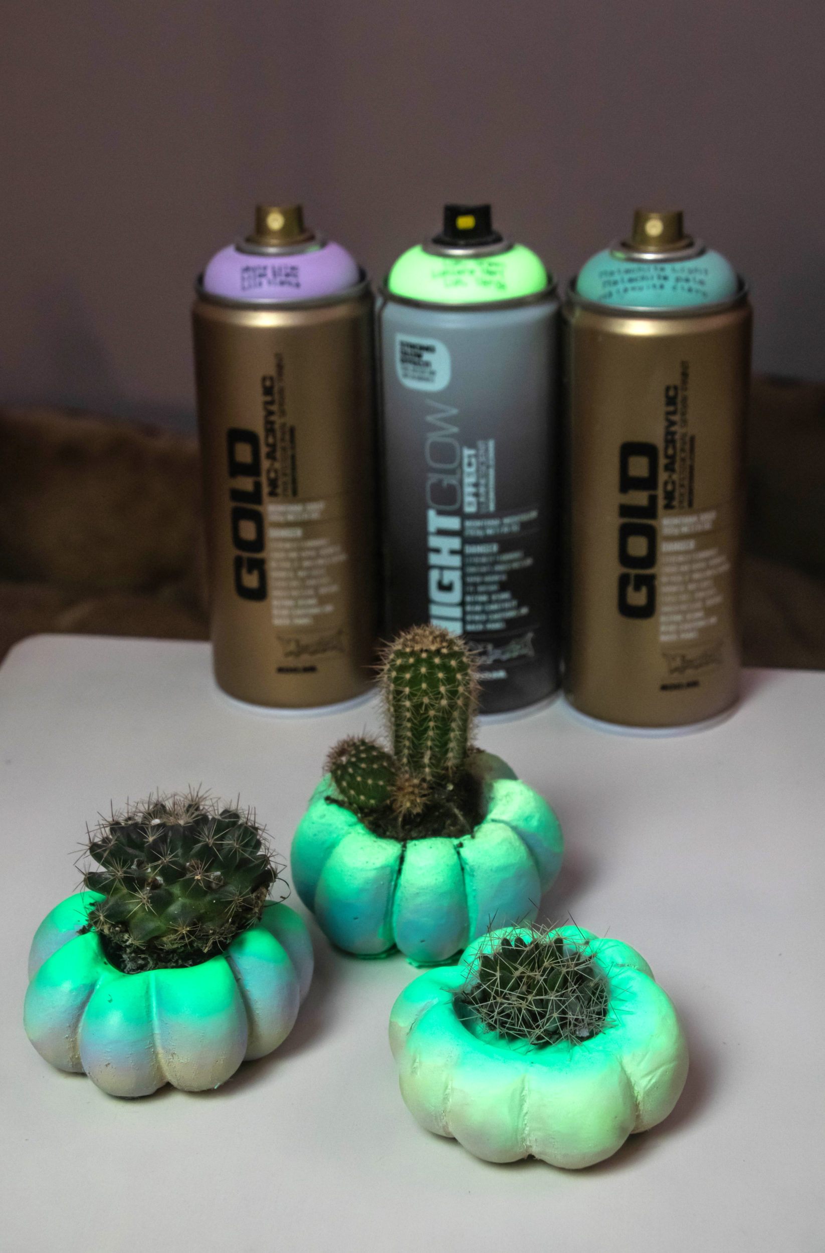 Nightglow Pumpkin Planters