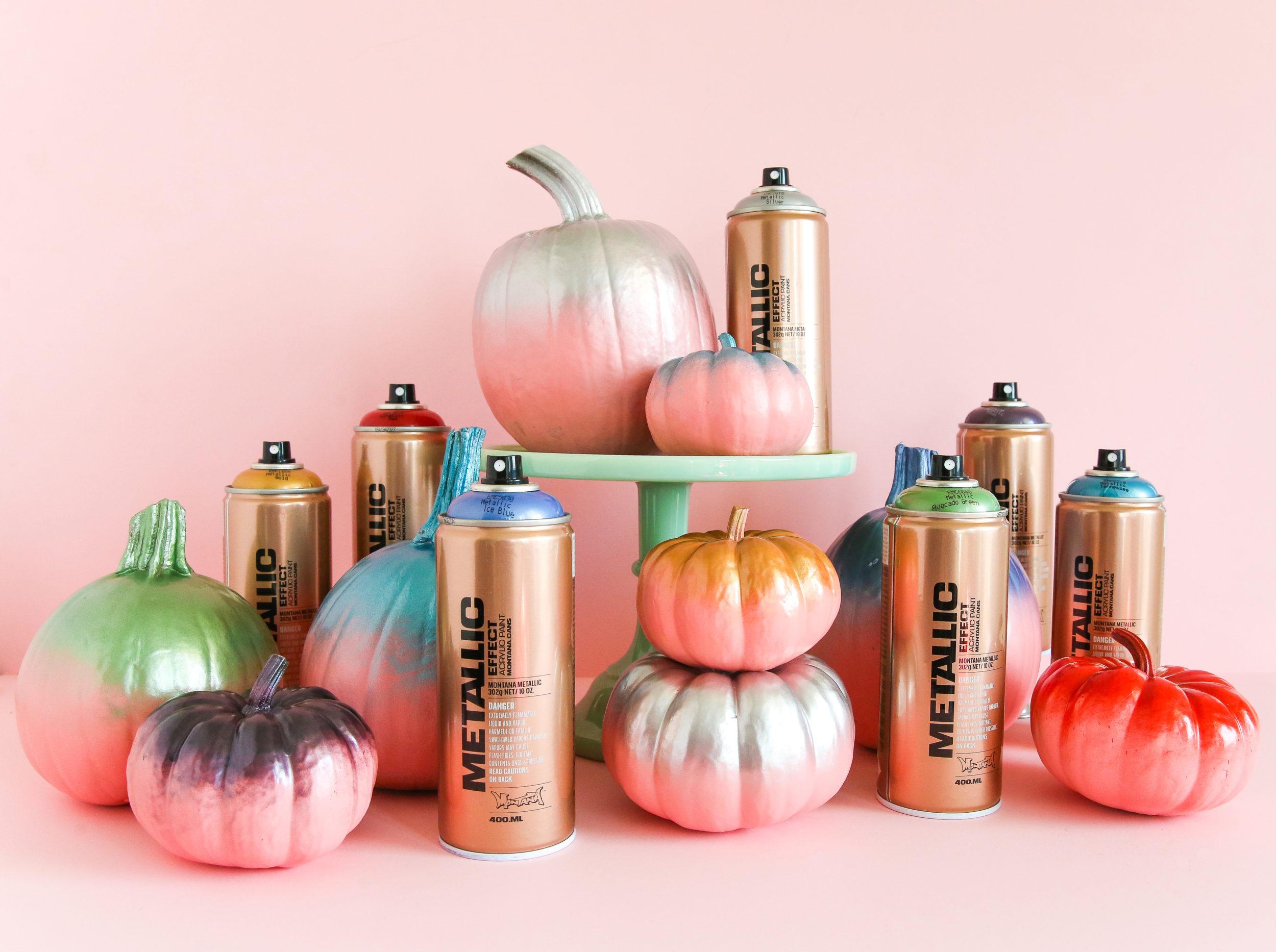 Metallic Dipped Pumpkins Modernizing A Halloween Classic