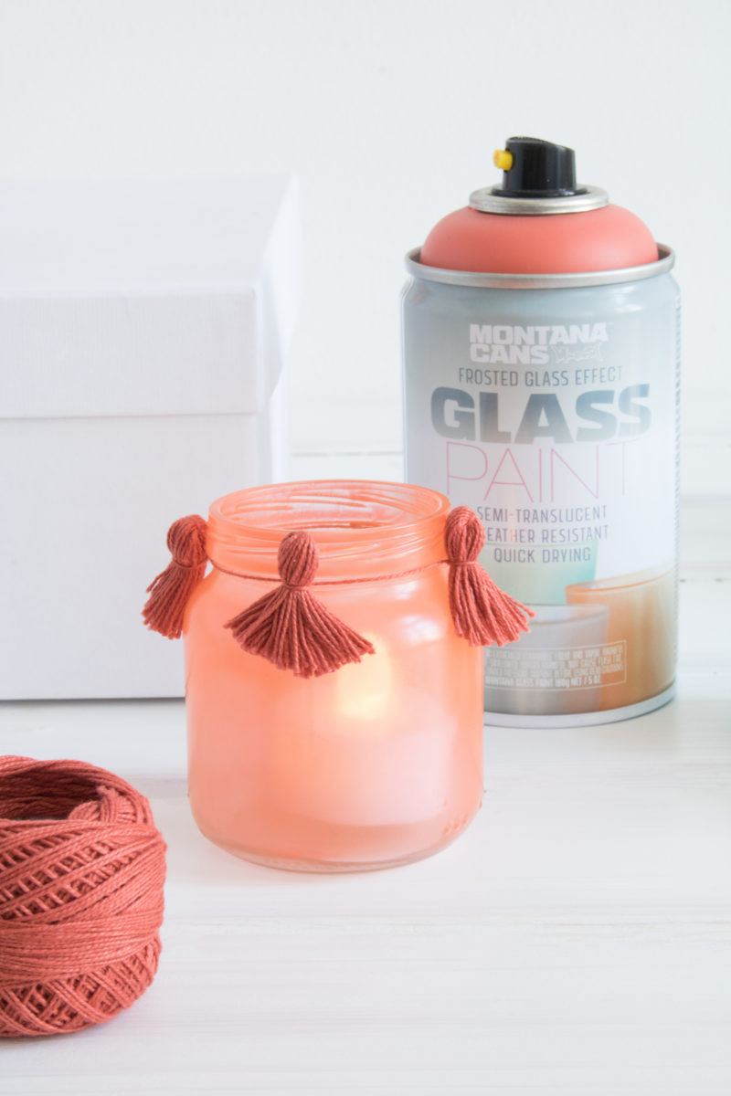 Glass Paint Tealights