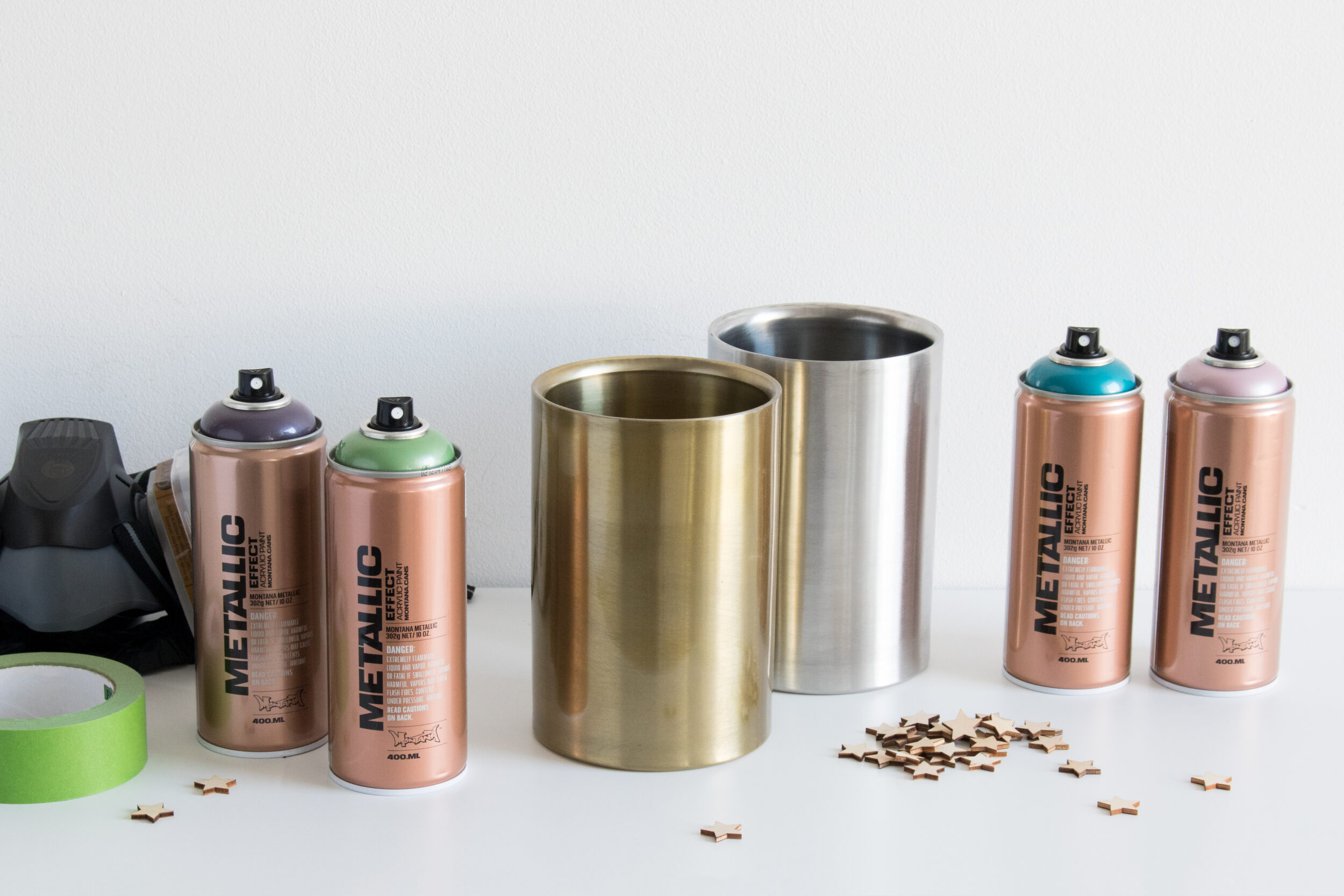 Metallic Wine Coolers Montana Cans allspraypainted